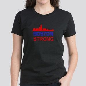 Boston Strong Skyline Red White and Blue T-Shirt