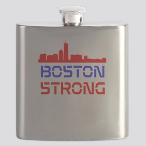 Boston Strong Skyline Red White and Blue Flask