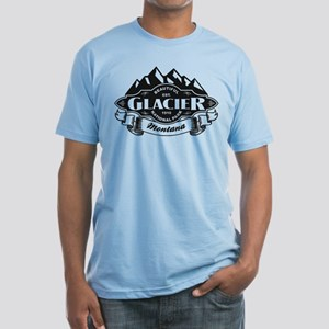 Glacier Mountain Emblem Fitted T-Shirt