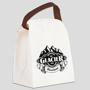 Glacier Mountain Emblem Canvas Lunch Bag