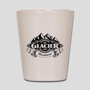 Glacier Mountain Emblem Shot Glass