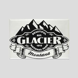 Glacier Mountain Emblem Rectangle Magnet