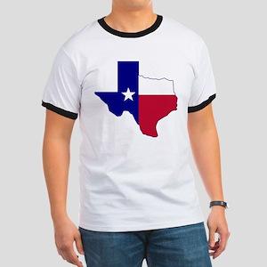Texas Flag Map Ringer T