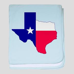 Texas Flag Map baby blanket