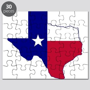 Texas Flag Map Puzzle