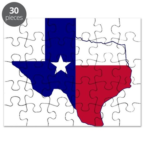 Texas Flag Map Puzzle By TexasHeritage - Texas map puzzle