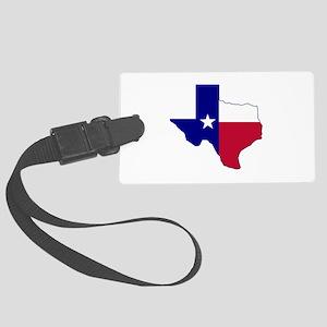 Texas Flag Map Large Luggage Tag