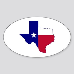 Texas Flag Map Sticker (Oval)