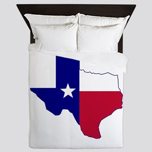 Texas Flag Map Queen Duvet