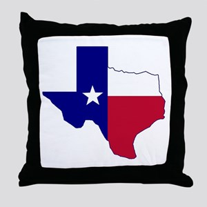 Texas Flag Map Throw Pillow