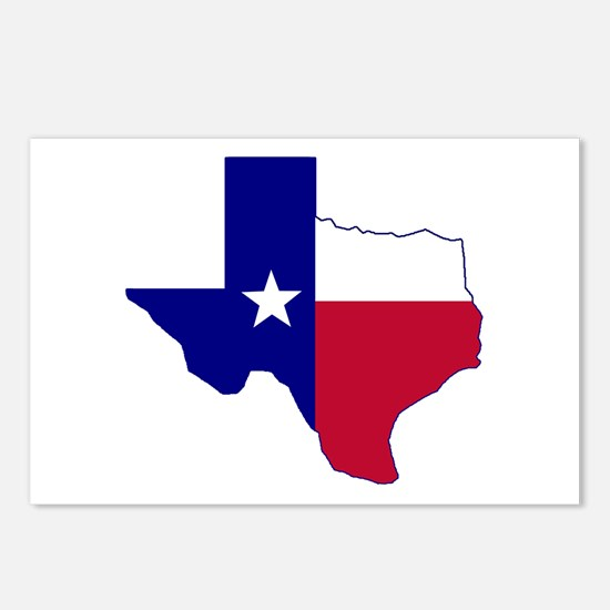 Texas Flag Map Postcards (Package of 8)