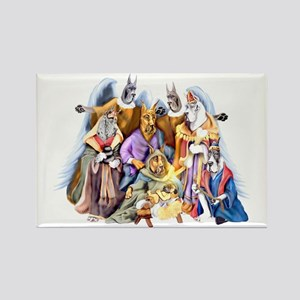 Great Dane Nativity Rectangle Magnet