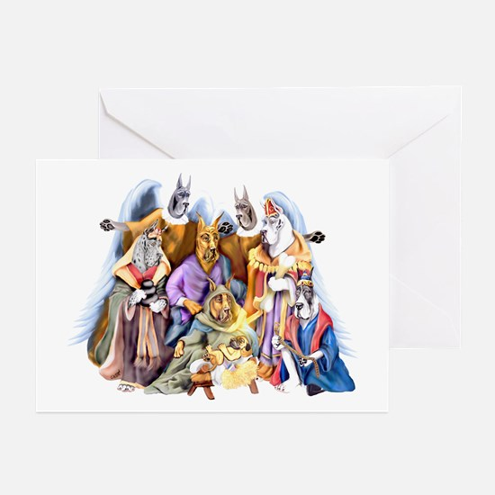 Great Dane Nativity Greeting Cards (Pk of 10)