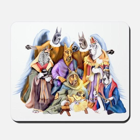 Great Dane Nativity Mousepad