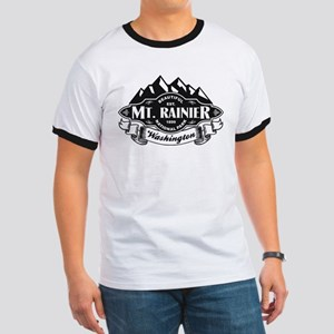 Mt. Rainier Mountain Emblem Ringer T