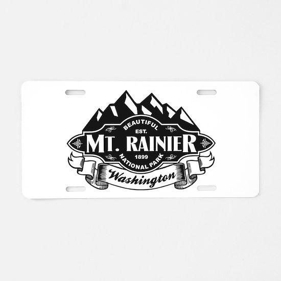 Mt. Rainier Mountain Emblem Aluminum License Plate