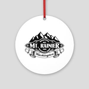 Mt. Rainier Mountain Emblem Ornament (Round)