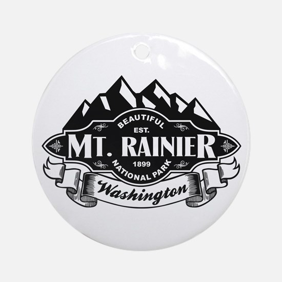 Mt. Rainier Mountain Emblem Ornament (Round)