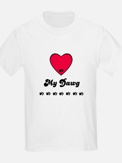 LOVE MY DAWG Kids T-Shirt
