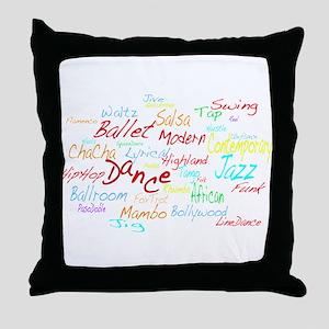 Cheerful Dance Cloud Throw Pillow