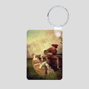 on canvasA - Aluminum Photo Keychain