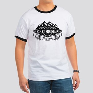 Rocky Mountain Mountain Emblem Ringer T
