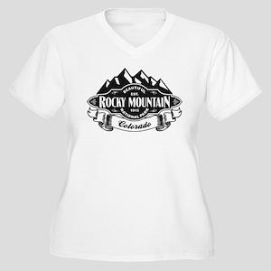 Rocky Mountain Mountain Emblem Women's Plus Size V