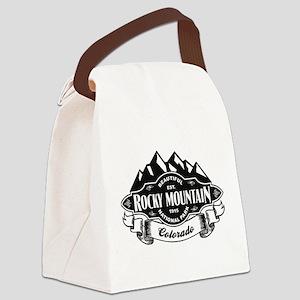 Rocky Mountain Mountain Emblem Canvas Lunch Bag