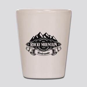 Rocky Mountain Mountain Emblem Shot Glass