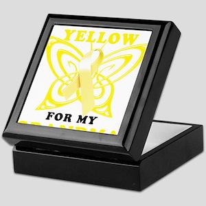 I Wear Yellow For My Grandma Keepsake Box