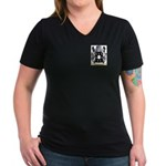Calverley Women's V-Neck Dark T-Shirt