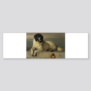 Newfoundland-Landseer Resting by the Shore Bumper