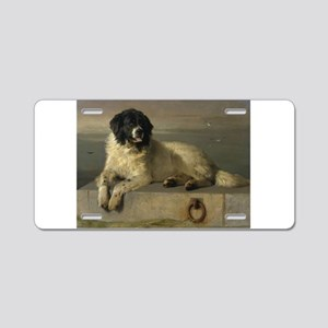 Newfoundland-Landseer Resting by the Shore Aluminu