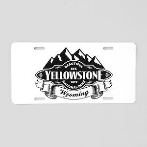 Yellowstone Mountain Emblem Aluminum License Plate