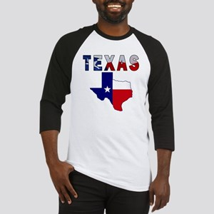 Flag Map With Texas Baseball Jersey