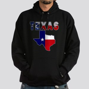 Flag Map With Texas Hoodie (dark)