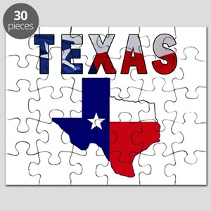 Flag Map With Texas Puzzle