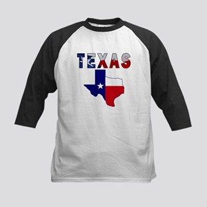 Flag Map With Texas Kids Baseball Jersey