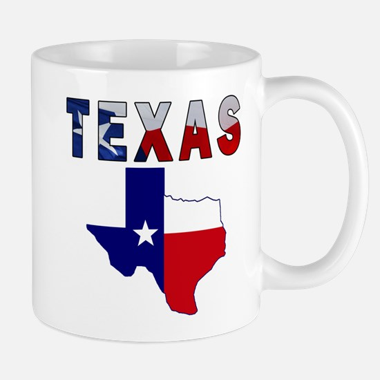 Flag Map With Texas Mug