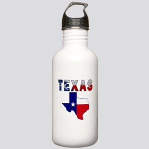 Flag Map With Texas Stainless Water Bottle 1.0L