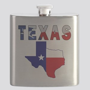 Flag Map With Texas Flask