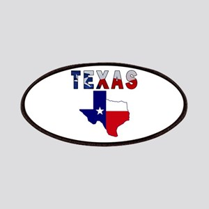 Flag Map With Texas Patches