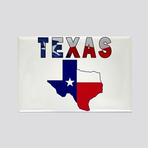 Flag Map With Texas Rectangle Magnet