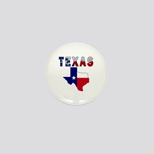 Flag Map With Texas Mini Button