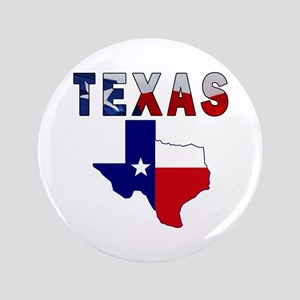 """Flag Map With Texas 3.5"""" Button"""