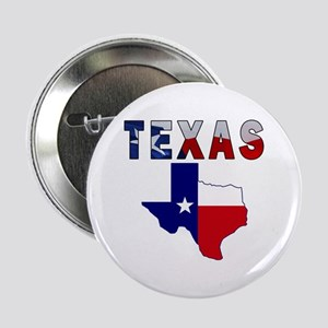 """Flag Map With Texas 2.25"""" Button"""