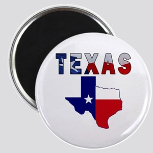 Flag Map With Texas Magnet