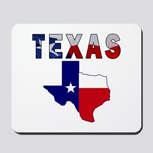 Flag Map With Texas Mousepad