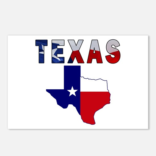 Flag Map With Texas Postcards (Package of 8)
