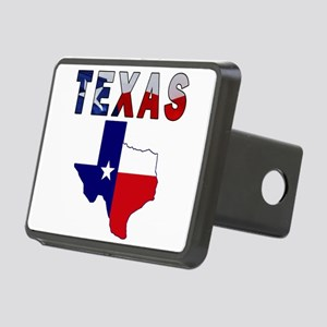 Flag Map With Texas Rectangular Hitch Cover